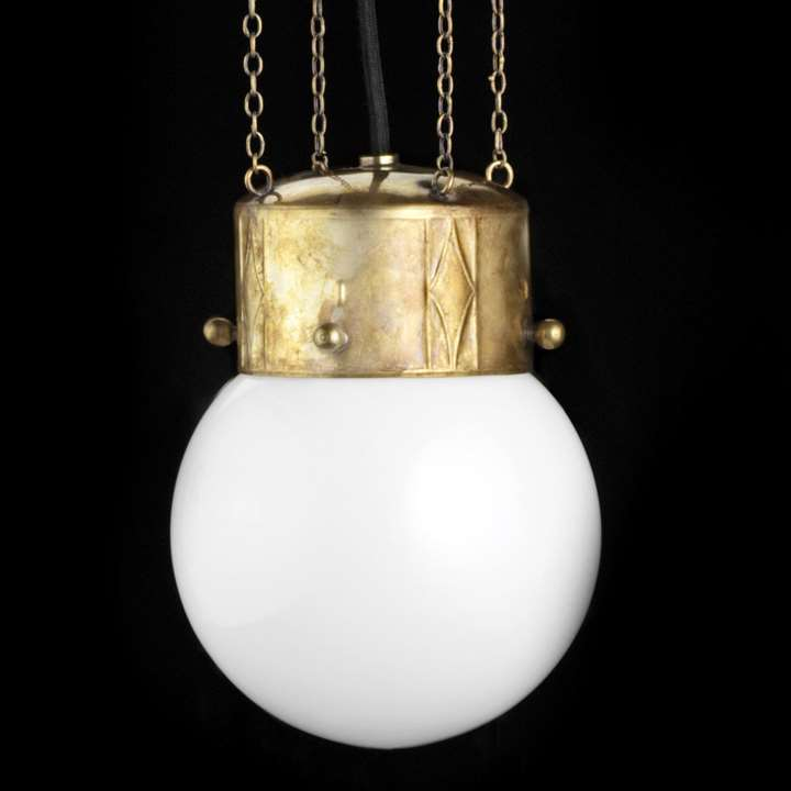 Pair of hanging lamps